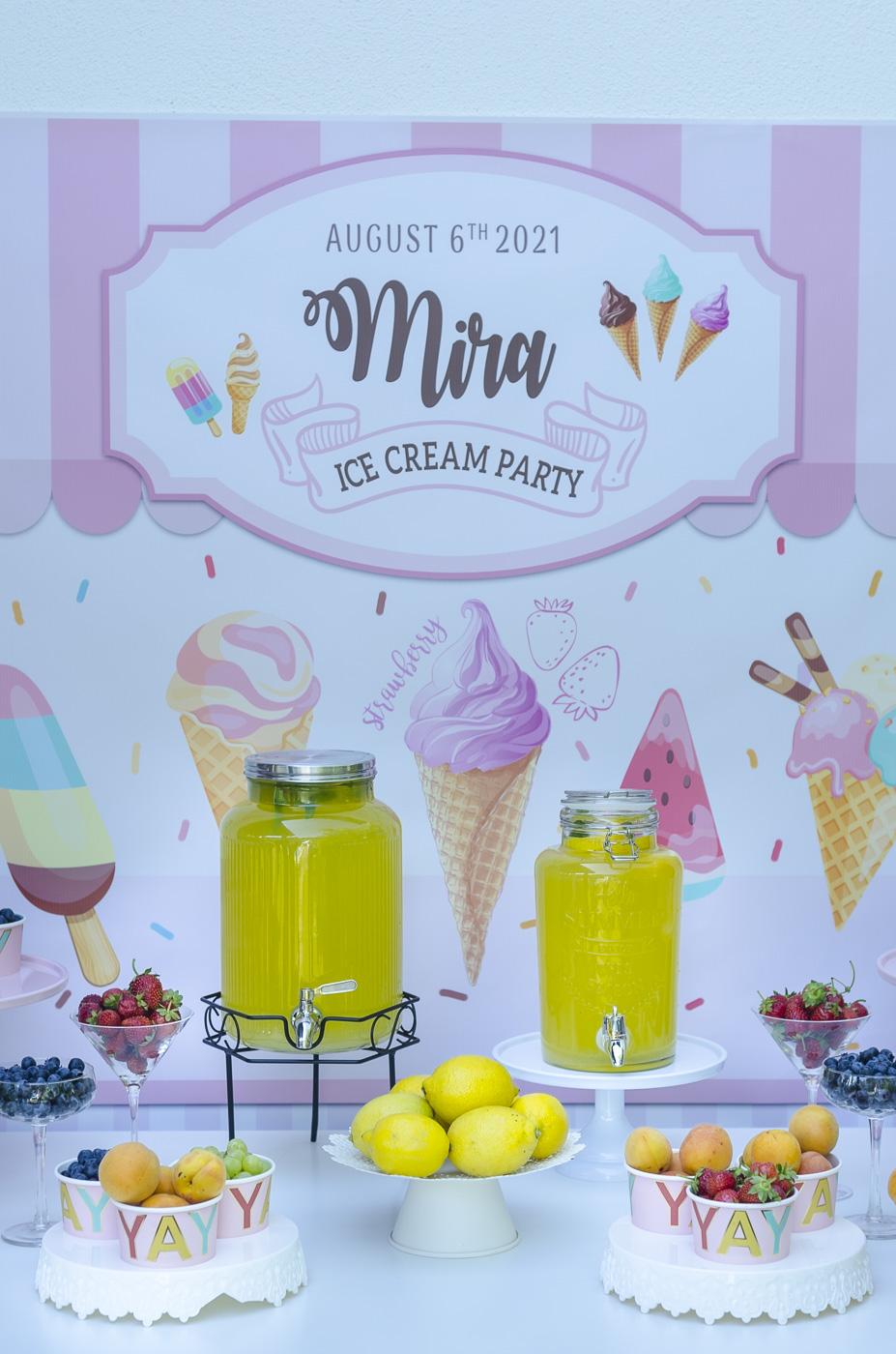 Mira's ice Cream Party